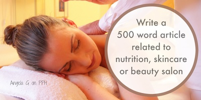 Write a 500-700 word nutrition, skincare or beauty salon article