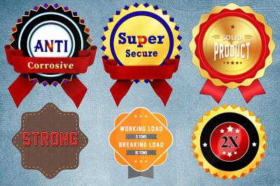 Unique & Custom Badge Design + Unlimited Revisions +  Artwork