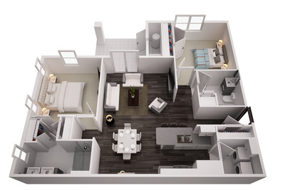 convert your 2D plan to a 3D floor plan
