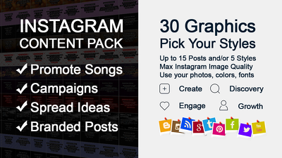 Create 30 Instagram graphics for your next campaign or promotion