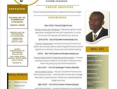 Transform a bulky & text only CV into a 1 page design