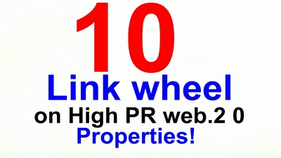 Create a link wheel from High PR Web 2.0 Properties