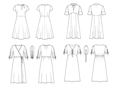 Create a CAD Technical Fashion Drawing Front & Back