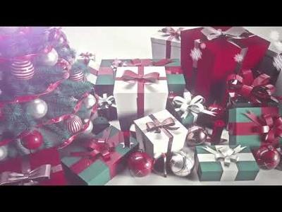 Create THREE christmas E-Card video Animation