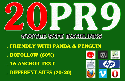 20 PR9 High DA Authority Permanent Backlinks Boost SEO Rank