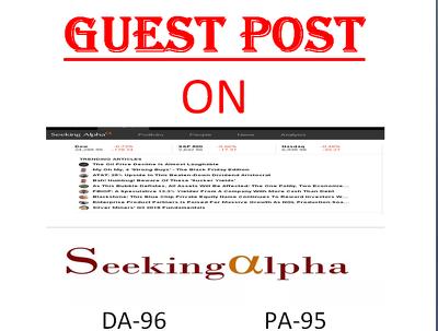 Publish guest post on finance website SeekingAlpha.com