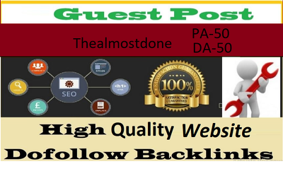 Write And Publish Guest Post On Thealmostdone.com Dofollow Blog