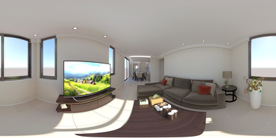 Create a 360 panoramic virtual tour of a house interior