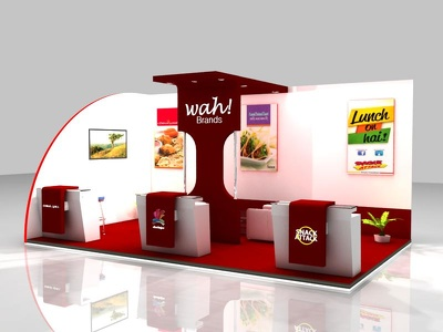 Design exhibition Booth And Kiosk For Advertisement
