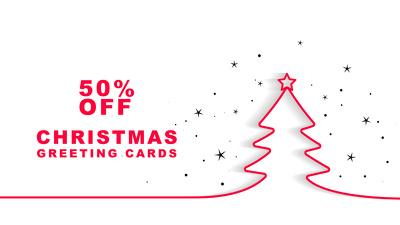 Design Custom Christmas Greeting and Invitation Card