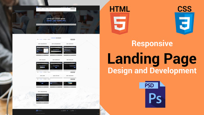 A Simple Landing page Design & Development