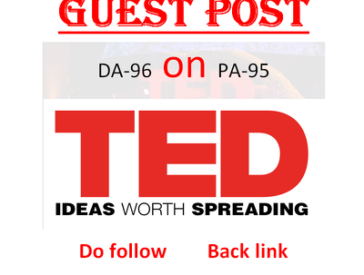 Publish Guest Post On TED.com DA96 with Dofollow Backlink