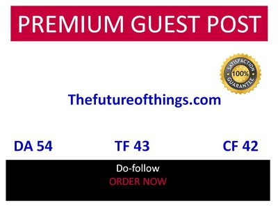 Guest post on thefutureofthings.com DA 54 Tech website