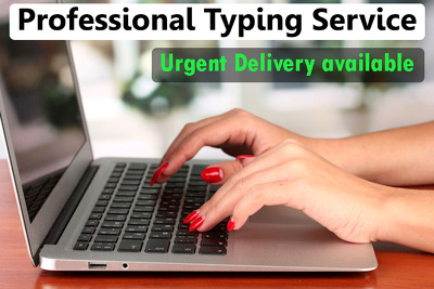 Do Professional Typing Job, Retype Scanned Document of 15 pages
