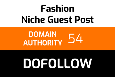 Write and publish 1 fashion guest post