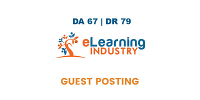 Publish a guest post on eLearning Industry DA 67, DR 79