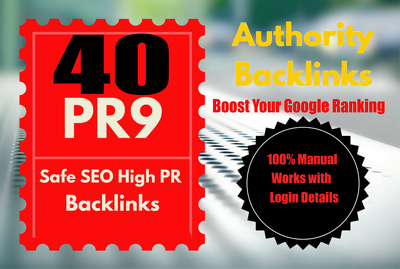 Build 40 PR9 DA 70-100 SEO Backlinks High Trust Authority Domain