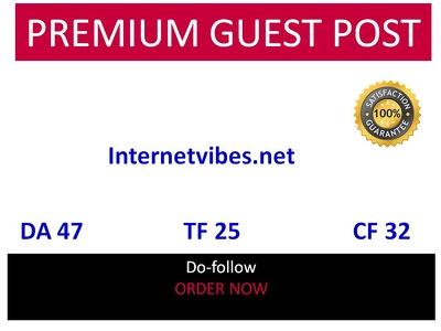 Guest post in internetvibes.net - DA 47 - tech website