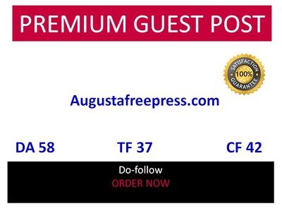 Guest post on Augustafreepress - Augustafreepress.com - DA 58