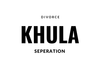 Help you with your islamic divorce/khula