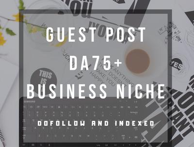 Guest post on a business niche blog (DA 75)