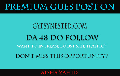 Publish a guest post on Gypsynester -  Gypsynester.com DA 48