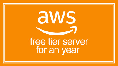 Create an free tier AWS server for an year and host your website