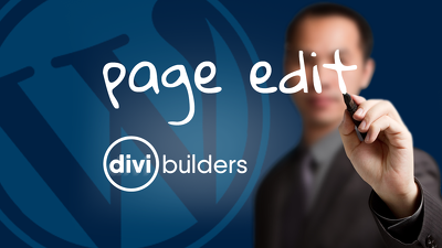 WORDPRESS PAGE EDIT WITH DIVI-BUILDER