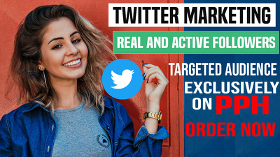 Do Professional Twitter Marketing For 1 Week