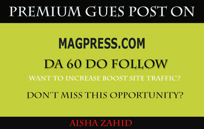 Publish guest post on Magpress – Magpress.com – DA 60