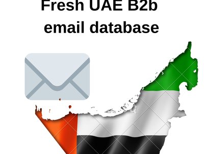 Fresh United Arab Emirates 320 000 B2b email database