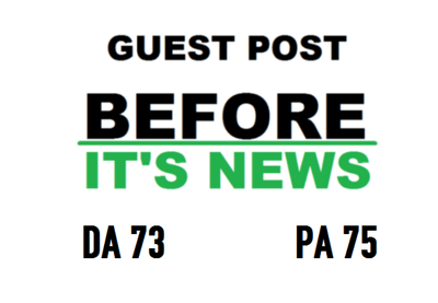 Guest Post On Beforeitsnews - Beforeitsnews.com DA73  , PA77