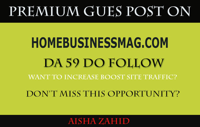 Guest posting on Homebusinessmag–Homebusinessmag.com DA 59