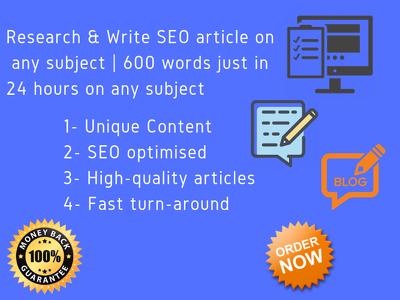 Write a unique SEO blog or article