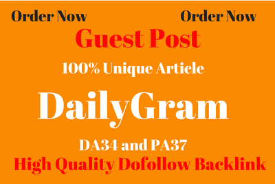 Publish a guest post on DailyGram - DailyGram.com DA 62