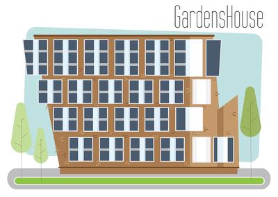 Make an Digital illustration of a building