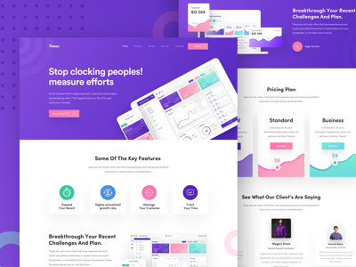 Design Pixel Perfect Trendy Responsive Website/ Landing page
