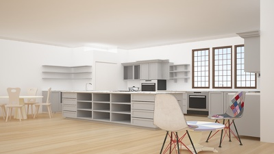 create beautiful, functional and realistic kitchen spcae