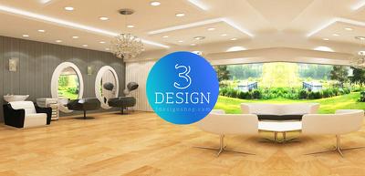 Provide you Realistic Interior Design of Spa & Saloon