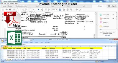PDF data enter to Excel spreadsheet