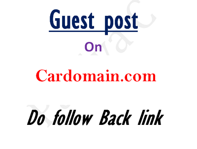Publish your article with Dofollow link on Cardomain
