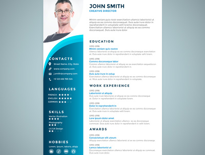 Design professional Resume / CV in 12 hours