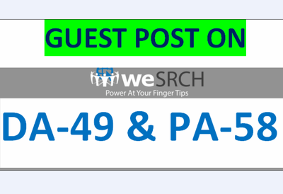 Publish a Guest Post on weSRCH DA-49