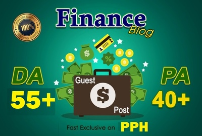 Write & guest post on 3 Finance Niche  DoFollow DA 55+ TF20+