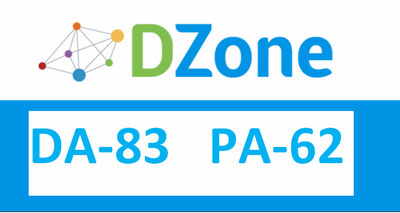 Write & publish Indexed guest post on Dzone.com DA-83, PA-62