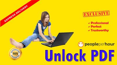 Unlock secured PDF or edit PDF