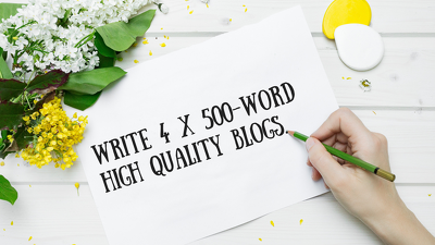 ⭐ write 4 x 500-word high quality articles for your business ⭐