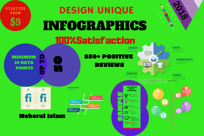 Design Professional Unique Infographic with 20 data point
