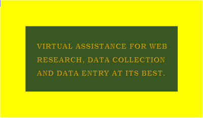 2 hours of web research, data collection & data entry