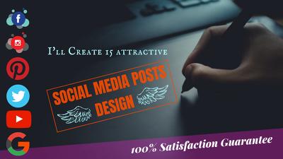 Create 15 Attractive Social Media Posts Design